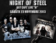 "CRYING STEEL-ALCSTONES ""Night of Steel""@ Art Cafè Live ""VI"""