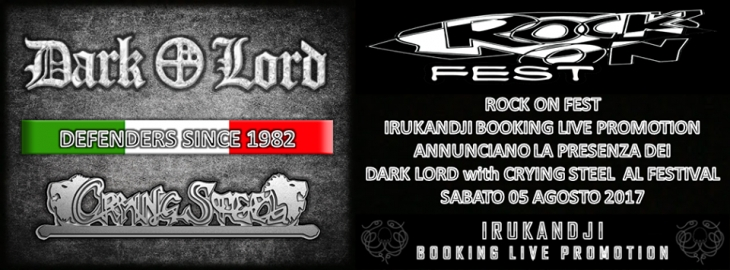 Annunciata la prima data tour dei Dark Lord with Crying Steel.